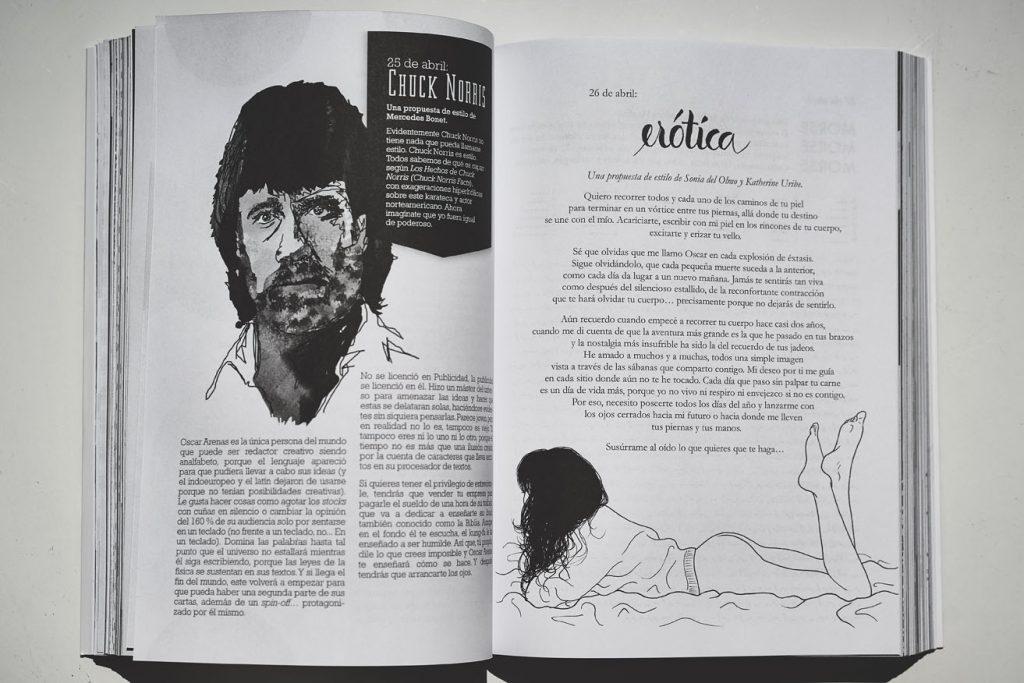 ¡Todas las páginas del libro tienen un diseño distinto!
